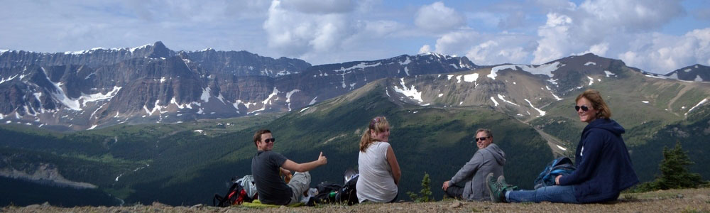 A rest at the summit in Jasper National Park